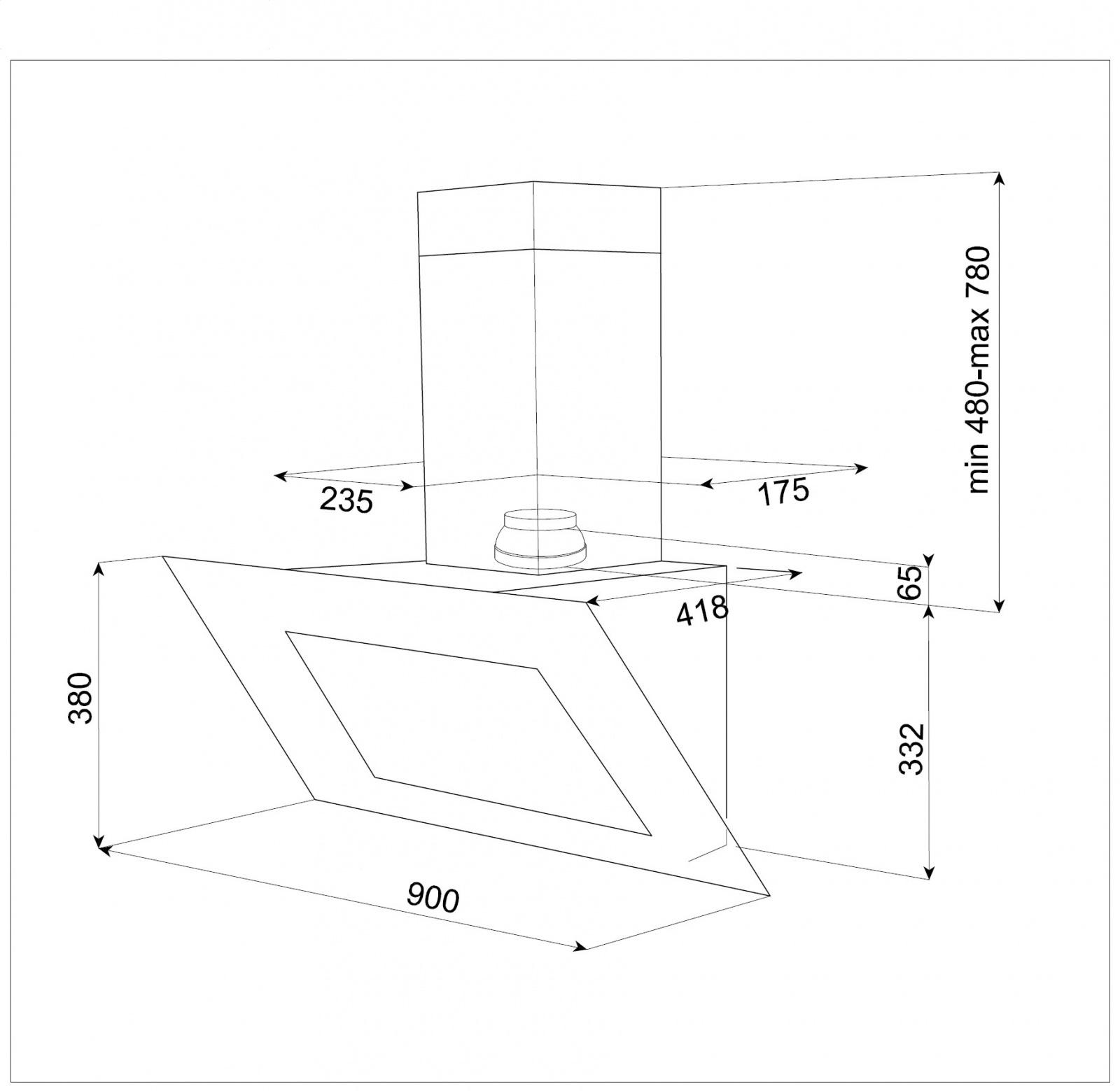 Схема встраивания Teka DVT 980 W